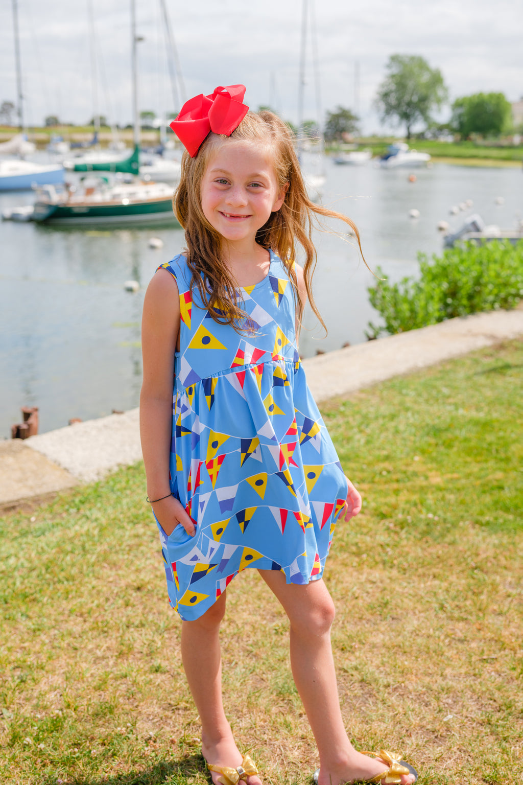 Twirl Dress - Signal Flags