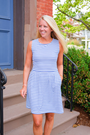 Boardwalk Dress - Summer Stripe