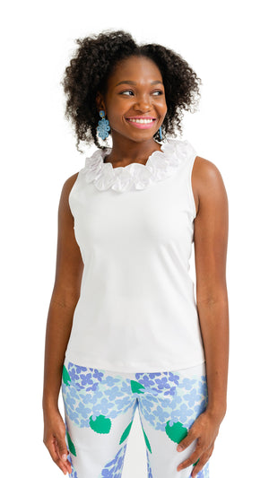 Cricket Top Sleeveless - White