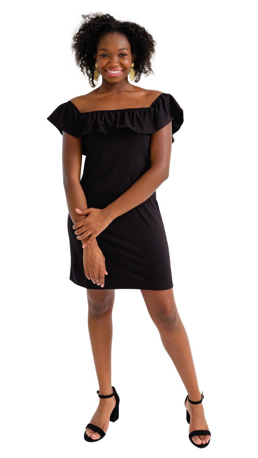 Shoreline Dress - Solid Black