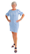 Dockside Dress - Summer Knot Azure/White