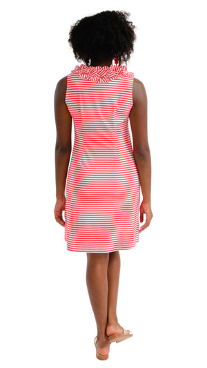 Cricket Sleeveless Dress - Red/White Stripe
