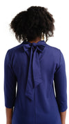Molly Bow Back 3/4 Sleeve - Solid Navy