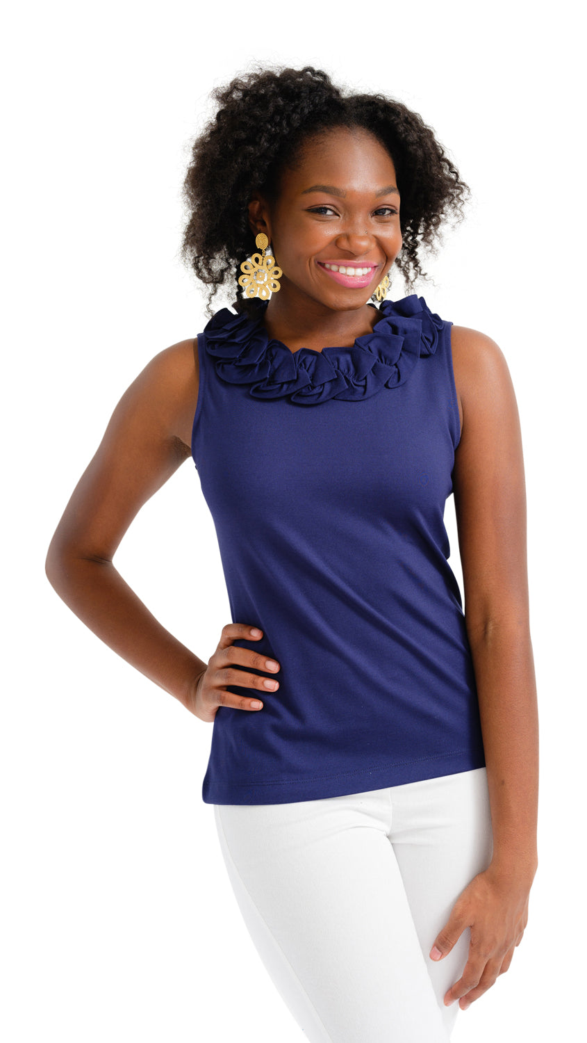 Cricket Top Sleeveless - Navy