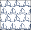 Seaport Shift - Sailboat Doodle- FINAL SALE