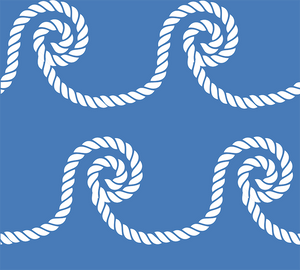 Grace Dress - Blue/White Rope Coil