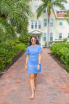Coco Dress - Blue/White Rope Stripe