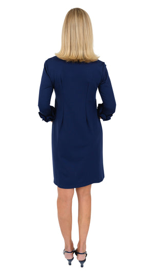 Caroline Dress - Solid Navy or black