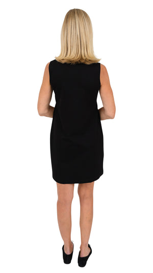 Lucy Dress Sleeveless - Solid Black