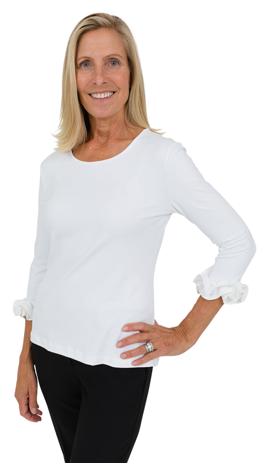 Caroline Top - Solid White