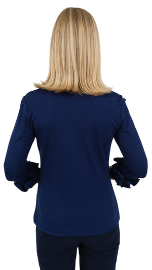 Caroline Top - Solid Navy