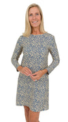 Marina Dress full sleeve - Navy/Biscotti Pebble FINAL SALE