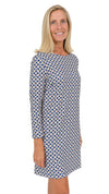 Marina Dress 3/4 Sleeve - Navy/Almond Bamboozled FINAL SALE