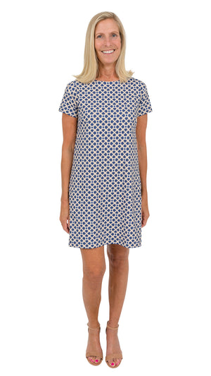 Marina Dress - Navy/Almond Bamboozled