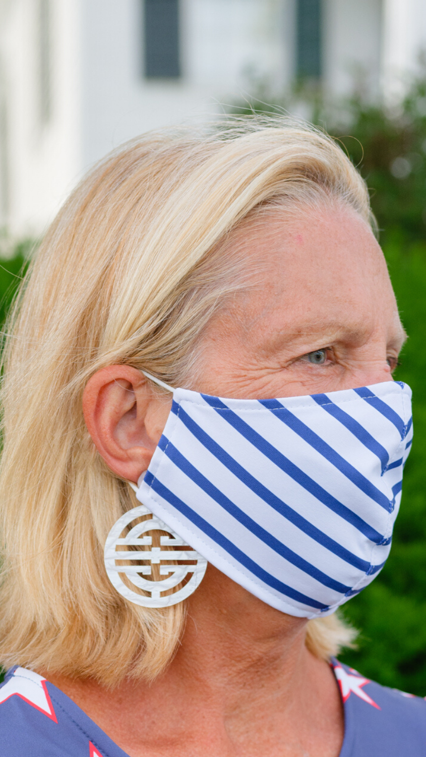 Face Mask - Summer Stripe - FINAL SALE
