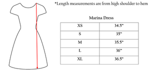 Marina Dress - Mod Leaves - FINAL SALE