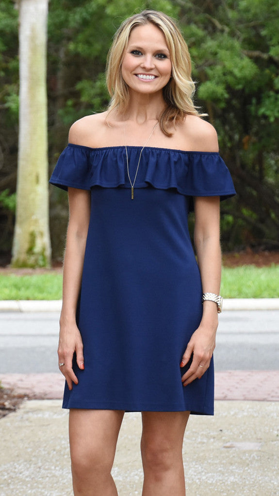 Shoreline Dress - Solid Navy