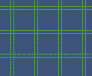 Yacht Club Shift - Navy/Green Window Pane