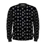 Black & White Platano Print Mens Sweatshirt