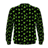 Black & Green Platano Print Mens Sweatshirt