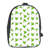 Platano Print Leather Backpack
