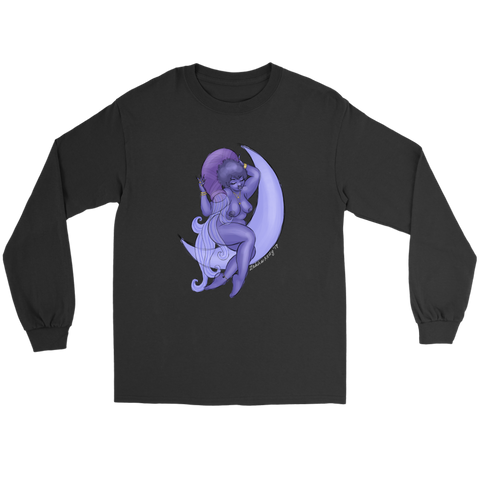 Aquarius Black Long Sleeve Tee