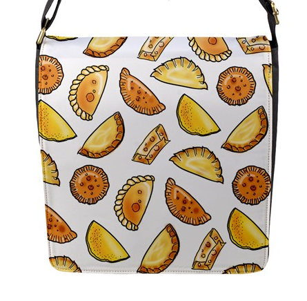 Empanada Print Messenger Bag