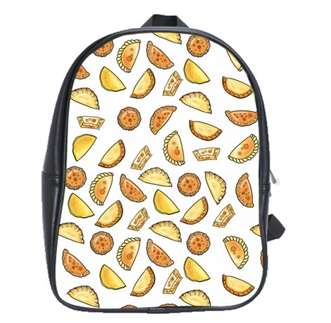 Empanada Print Leather Backpack