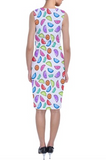 Rainbow Empanada Print Shift Dress