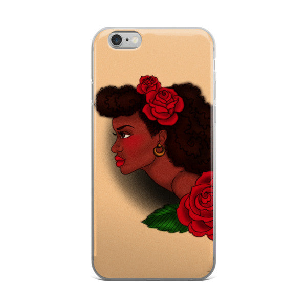 Afro Lady Head iPhone case