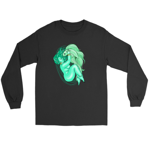 Pisces Black Long Sleeve Tee