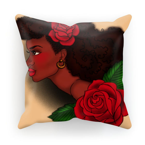 Afro Lady Head Cushion