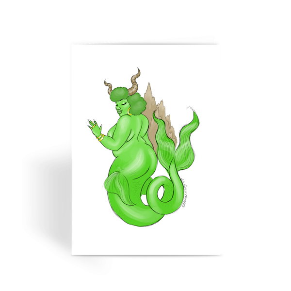 Capricorn Greeting Card