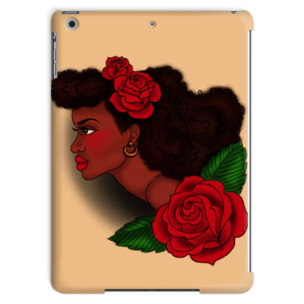 Afro Lady Head Tablet Case