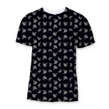 Black &White Platano Print Sublimation Unisex T-Shirt