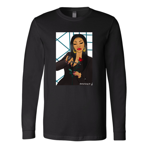 Morticia Gomez/Como La Flor Long Sleeved Tee