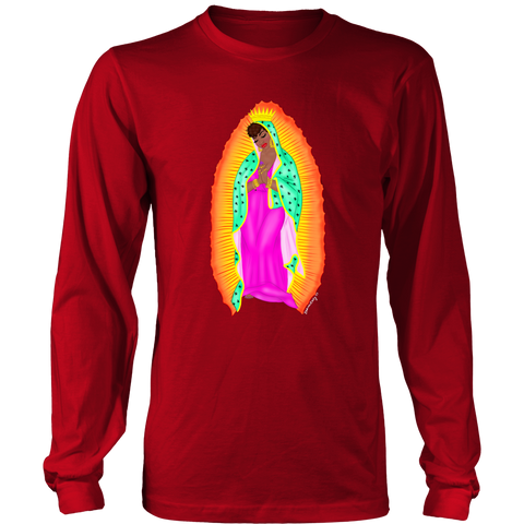 virgen negra unisex long sleeve shirt