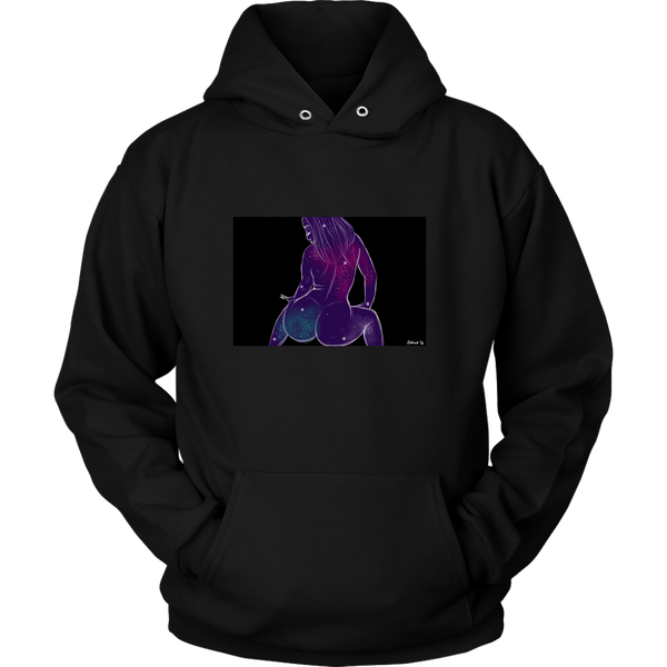 Galaxy Princess III Unisex Black Hoodie