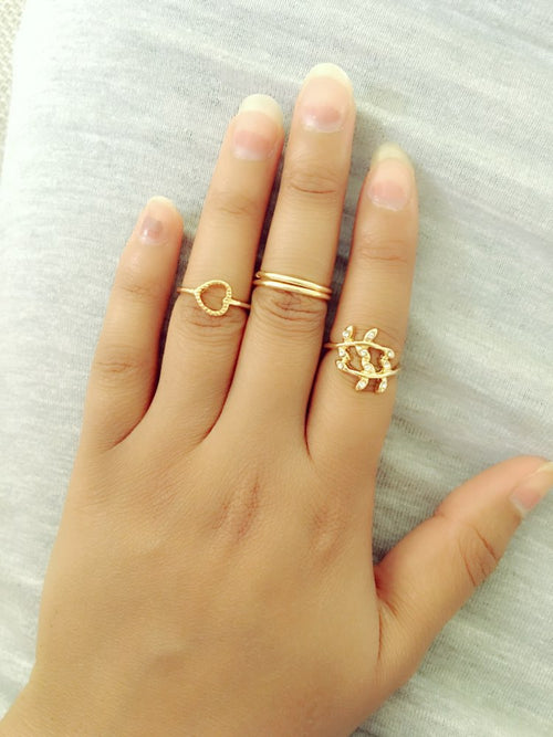 4 Piece Set Urban Knuckle Ring