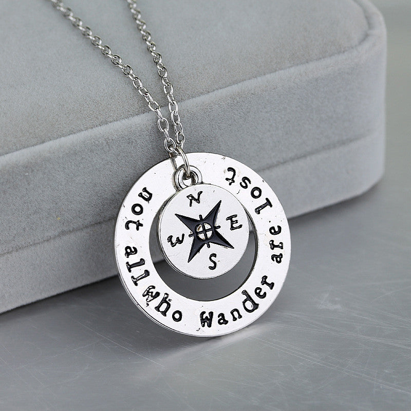 Wanderlust Not All Who Wander Are Lost Necklace