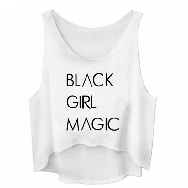 Black Girl Magic Sleeveless Crop Top