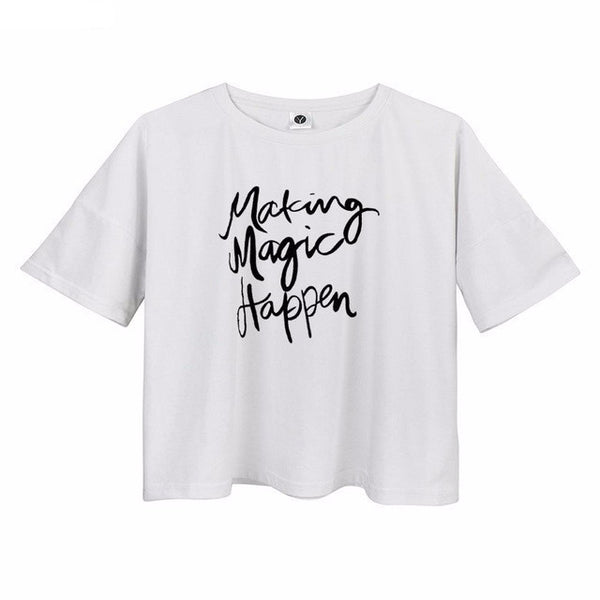 Making Magic Happen Crop Top