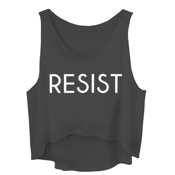 Resist Sleeveless Crop Top