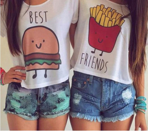 Best Friends Burger And Fries T-Shirt