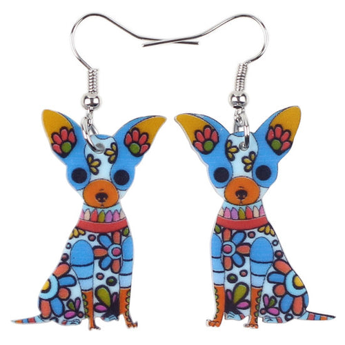 Chihuahua Acrylic Earrings