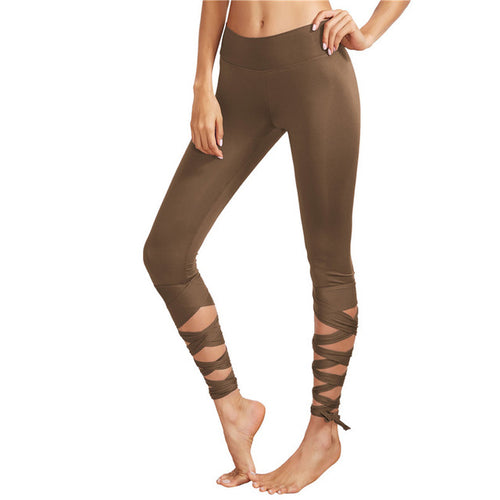 Crisscross Tie Up Leggings