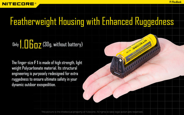 Compact and Lightweight Perfect for keeping your pack as light as possible NiteCore F1 New Zealand