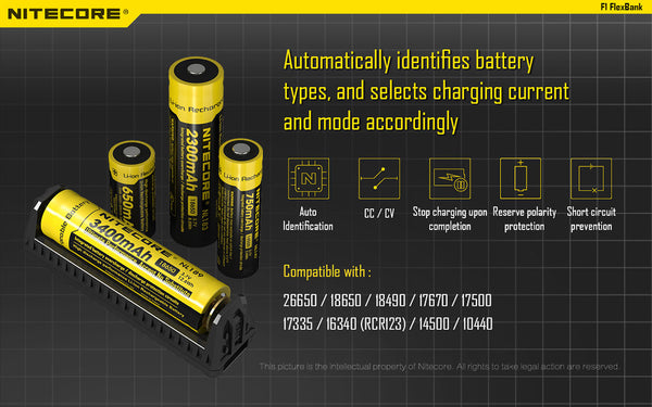 Automated battery detection for ultimate flexibility NiteCore 18650 Battery Bank New Zealand