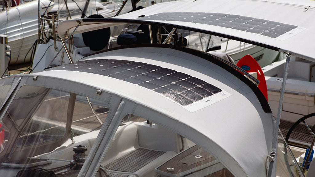 ultra thin yet robust flexible solar panel with mono crystalline cells which are perfect for curved surface such as tent, yurt, RV and marine roof top mounting.