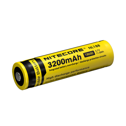 NiteCore 3200 mAh 18650 Li-Ion Re-Chargable Battery